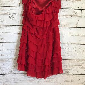 Guess Dresses - Guess Red ruffle sleeveless dress